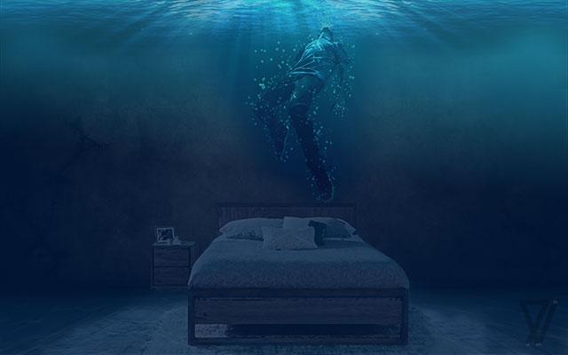 ما غرق شدیم از بس که اتاق دریا شده بود -  خواب محسن چاوشی